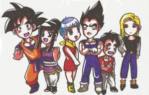 DbZ Chibis 01 by Paizy