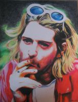 Kurt Cobain by thisartdrowns