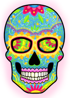 Mexican Death Skull by ponyhallo1