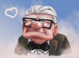 Carl Fredricksen by NikiVandermosten