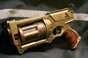 Steampunk Nerf Maverick 5 by JohnsonArms