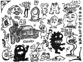 Monster Doodles and Chewie by WordofWar