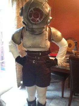 Another picture of my Bioshock cosplay by BlackFemaleMetalHead