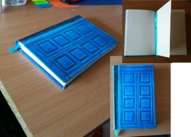 TARDIS blue notebook by LunaHermione