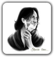 Severus Snape - Shavin' time... by RedPassion