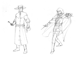 Night Watch Cast: Dr. Lawn and Vetinari Sketches by plangkye