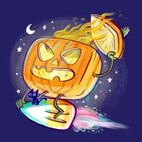 The Great Pumpkin Rides Again by skortbulb