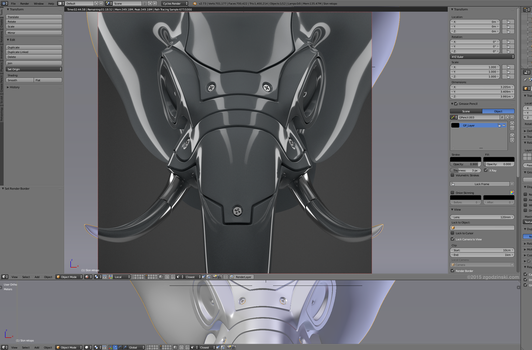 Hard surface elephant head, work in progress. by zgodzinski