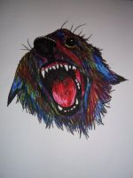 Doodle of a dog by Kaikoura