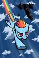 Rainbow Dash flying with SR71 by dannylim86