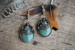 Aventurine twist Earrings by twistedjewelry