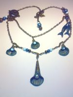 Sea sells and pearls necklace by sississweets