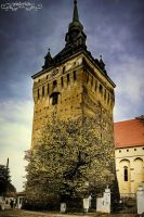 Saschiz tower by Wintertale-eu