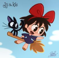 Chibis Jiji and Kiki by princekido