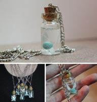 LoZ Fairy in a Bottle Necklace by InkDaemon