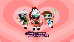 Powerpuff Canadians! [wallpaper] by Radioactive-K