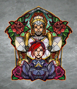 Stained Glass Ashnando by TheStarBear