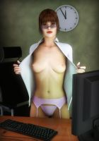 Overtime at the office by madaigual