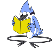 Mordecai is Reading by PaulyVectors