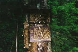 Mount Moosilauke Trail Sign by sixgun-fighter