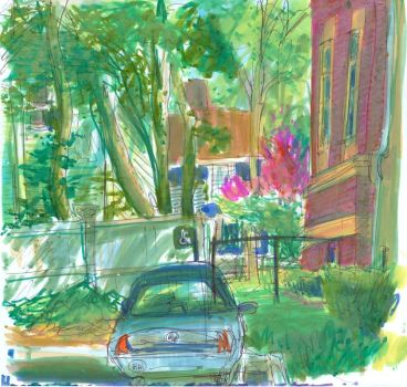 Granny Car Behind the Library by chelsea-the-tomboy