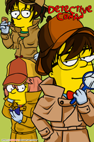Detective Conan Simpsonized by chiQs09