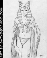 Shaak Ti disrobing by SatyQ