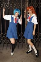 School Girls - Evangelion by Mostflogged