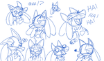 Lucario Sketches by Elusive-Paradise