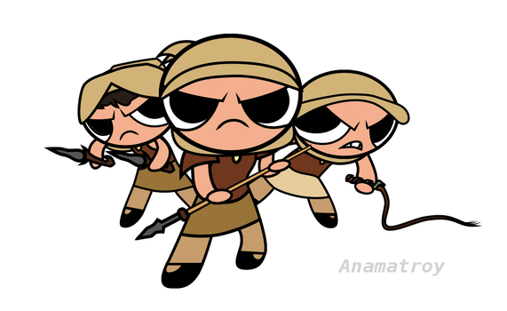 Power Puff Snakes by Anamatroy