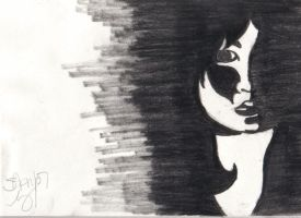 Girl On Paper by raynne