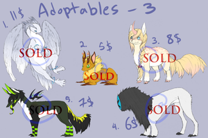 Animal Adoptables - Batch 3 [CLOSED] by loverofscythe