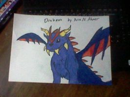 Drakeon (Dragon type Eeveelution) Pokemon by AriaNAhmer