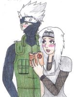 HanaeXKakashi :PC: by isa-chan16