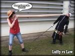 Luffy vs Law by Redzs00