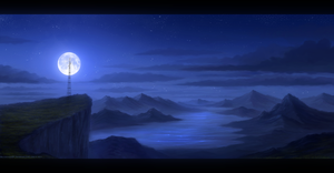 Nightfall - Speedpainting by Enigmatic-Ki