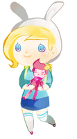 Adventure Time: Fionna and Prince Gumball by Pochi-mochi