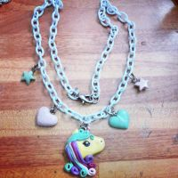 Unicorn necklace  by Doll3