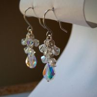 Crystal Cluster Earrings by lulabug