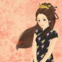 chinese lady by 5wla