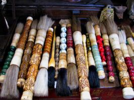 Calligraphy Brushes by Scarlettletters