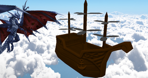 Cid of Lufaine's Airship + DL by Valforwing