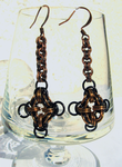 Earings Copper-black S by Tannalein