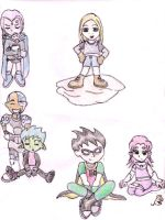 Baby Titans photo shoot 1 by liliflower4