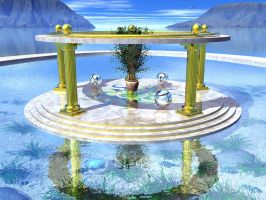 Atlantean Sun Shrine II by someole3d