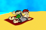 Numbuh 3 and Numbuh 103 relaxing by smithandcompanytoons