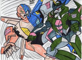 SAFEGUARD VS SKYQUAKE!!! by VectorMagnus2011