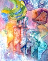 Abstract Watercolor by chibianne