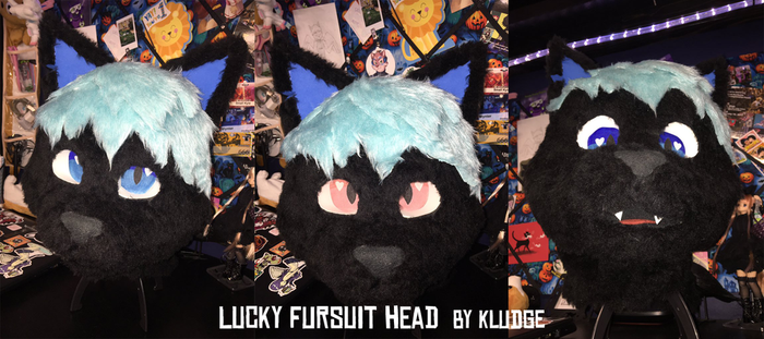 Lucky fursuit head by Kludges