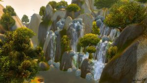 [World of Warcraft] Elwynn Forest - Waterfall by SirLeo09